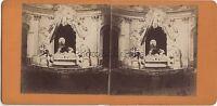 París Iglesia Saint-Roch Francia Foto Estéreo Stereoview Vintage Aprox 1870