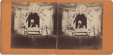 Paris Église Saint-Roch France Photo Stéréo Stereoview Vintage ca 1870