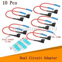10Pcs Car Micro2 Fuse Adapter Tap Dual Circuit Adapter Holder For Truck Auto !