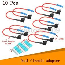 10Pcs Car Micro2 Fuse Adapter Tap Dual Circuit Adapter Holder For Truck Auto