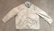 Polo Ralph Lauren Khaki Wind Breaker Jacket 3XLT NWT Hidden Hood MSRP $198