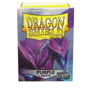 Non-Glare Matte Purple 100 ct Dragon Shield Sleeves Standard Size 10% OFF 2+