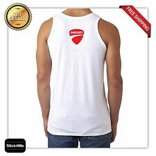 DUCATI RACING LOGO RACE MOTORCYCLE TANK TOP high-quality BACK&FRONT