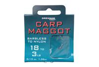Drennan Carp Maggot Barbless Hooks to Nylon