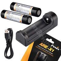 Fenix ARE-X1 USB powered battery Charger w/ 2 X ARB-L2M 18650 Li-ion Batteries