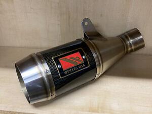 GP Carbon Fiber Slip On Exhaust Werkes USA 11-13 Ducati Monster 1100 EVO, Nice!
