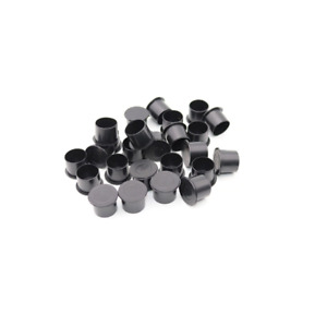 Tattoo Ink Cups / Caps BLACK - SMALL with Base - 1000 x 6mm black pots - UK