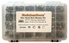 Stainless Steel Hex Head Bolt Master Kit Assortment  by StainlessTown Free Ship