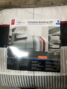 Bed n Bag Mainstays Complete Bedding Set FULL Size New 8 pieces linens covers