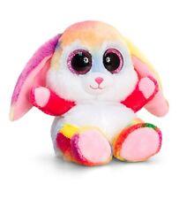 Keel Toys Animotsu 15cm Rainbow Rabbit Bunny Beanie Cuddly Soft Toy Plush SF1654