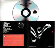 KAMAAL WILLIAMS The Return 2018 UK 10-trk promo test CD