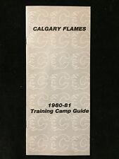 1980-81 NHL CALGARY FLAMES TRAINING CAMP MEDIA GUIDE 1st SEASON INAUGURAL YEAR