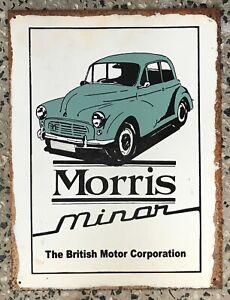Morris Minor Rustic Tin Sign 400mm x 300mm