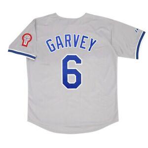 Steve Garvey 1981 Los Angeles Dodgers Grey Road Jersey w/ Patch (M-2XL)