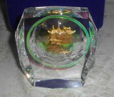 Ltd Edition Shanghai Yu Garden Crystal Gilded Mid-Lake Pavilion Zigzag Bridge