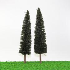 S0401 2PCS 11.81''/30cm Christmas Home Decor Model Pine Trees 1:43 O Scale NEW