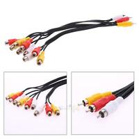 3RCA Male To 9 RCA Female Plug Splitter Audio TV DVD Video Adapter AV Cable Cord