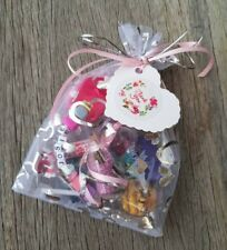 Children Kids Gift Party Bags Personalised FAIRY UNICORN FROZEN Rainbow Keyring