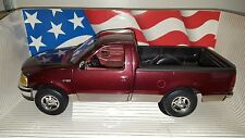 1/18 ERTL AMERICAN MUSCLE 1997 FORD F150 XLT PICK UP TRUCK TOREADOR RED bd
