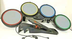 PlayStation Harmonix Rock Band Wired Drum Heads & Foot Pedal Only Lot - Untested