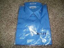 Modena Men's Dress Shirt NWT Size 16 34/35 Blue Long Sleeve