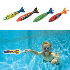 4pcs Pool Dive Torpedo Underwater Rocket Toys Party game Outdoor Sports