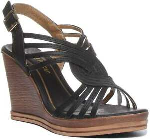Salt And Pepper 2 Rosemary Womens Synthetic Wedges Black Size UK 3 - 8