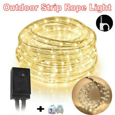 10m LED Rope Tube String Mains Plug Fairy Lights Outdoor Garden Lamp Warm White