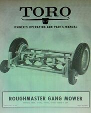 TORO ROUGHMASTER Gang Reel Mower Riding Tractor Implement Owner & Parts Manual