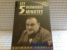 COFFRET 5 DVD LES 5 DERNIERES MINUTES VOL 4 RAYMOND SOUPLEX NEUF SOUS CELLO