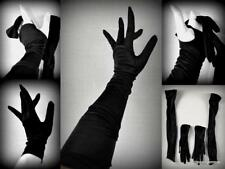 vintage finger-less opera & matching wrist rayon gloves size 7 burlesque glamour