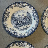 Johnson Brothers COACHING SCENES-BLUE Dinner Plate 274842