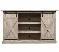 """Rustic TV Stand Console Up To 60"""" Barn Door Wood Farmhouse Entertainment Center"""