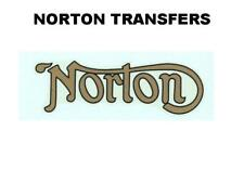 Norton Rear Mudguard Transfer Decal Motorcycle D50212C Black Gold