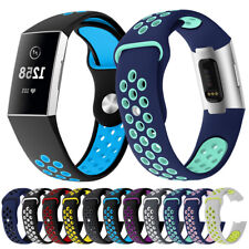 Replacement Wrist Strap Sports Silicone Watchband for Fitbit Charge 3 Watch Band