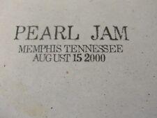 live MEMPHIS tenn 2000 august 12 tennessee PEARL JAM cd bootleg # 34 no boot leg