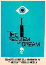 Encadré retro movie poster – le requiem de rêve (réplique imprimer cinema film)