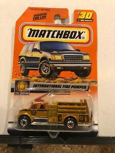 MATCHBOX #30 INTERNATIONAL FIRE PUMPER FIRE ENGINE GOLD