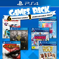 NEW PS4 6 Games Bundle Sony Playstation 4 Game PS God of War Singstar Wipeout