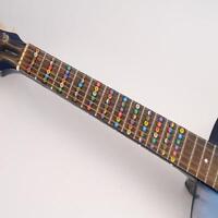 Guitar Neck Fretboard Note Map Fret Sticker Lables Decals Learn Fingerboard SS