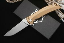 "4.9""Stainless Steel Handle Ball Bearing Flipper Knife with D2 Blade Pocket Knife"