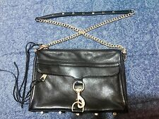 Authentic Rebecca Minkoff Mac Black Large Crossbody Clutch Bag Hangbag