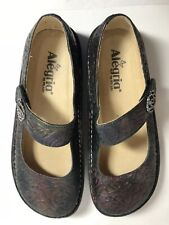Alegria Shoes Size 6 Paloma Mary Jane Comfort Floral Rose Shadow Iridescent
