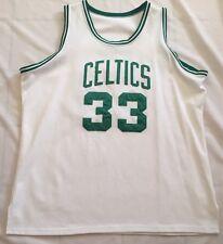 Larry Bird #33 Boston Celtics Home White Vintage Pro Stitched Jersey