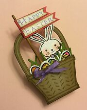 Happy Easter Basket with Bunny Pin ~  made w/ Stampin Up & other products