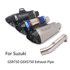 Exhaust Set for Suzuki GSXS750 GSR750 Motorcycle Mid Muffler Slip On 51mm Pipe