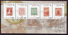 NEW ZEALAND 2005 150 YEARS NEW ZEALAND STAMPS MINIATURE SHEET FINE USED