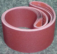 "5pc 6 "" X 89 "" 36 GRIT SANDING BELT Made in USA Butt Joint sand belts A/O"