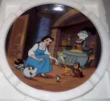 "NIB 1994 Disney Beauty & Beast Plate 10 ""Enchante Cherie"" Bradex Collection COA"