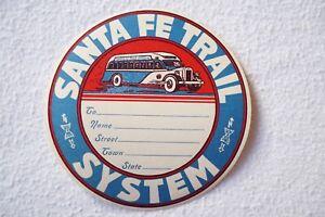 Santa Fe Trail System Travel Luggage Label